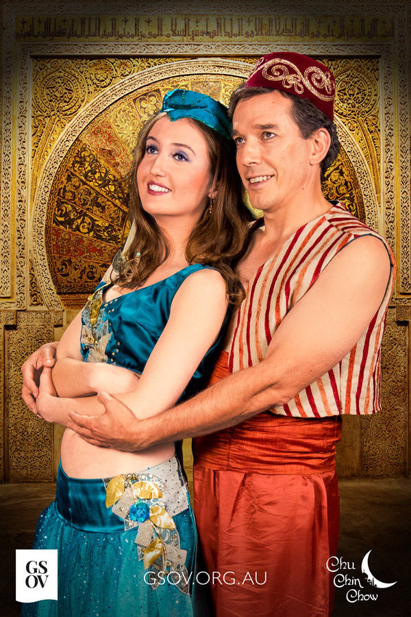 The two lovers, Ella Broome as Marjanah & Torquil Syme as Nur-Al-Huda